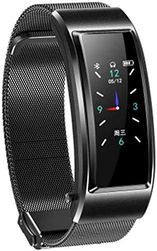 Auricular reloj 2 en 1 función reloj inteligente correa de metal botón táctil control Bluetooth Android IOS auriculares inteligentes reloj E