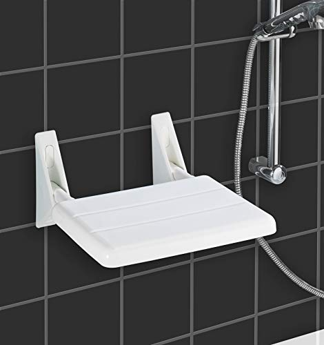 Wenko 179371100 opklapbare douchestoel, ABS, 35 x 19 x 36 cm, wit