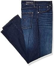 Calvin Klein Men's Relaxed Straight Jeans, Austin Dark Blue, 36W x 32L