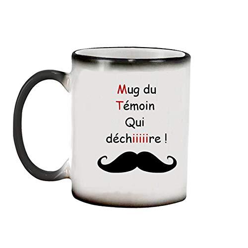 Sublimagecreations mug du témoin Qui déchire, spécial Mariage mug Magique