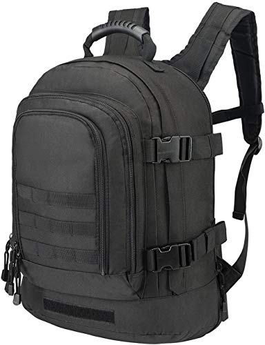 ACOMOO Expandable Backpack 39L-64L Large Tactical Bug Out Bag Wth Waist Strap Black