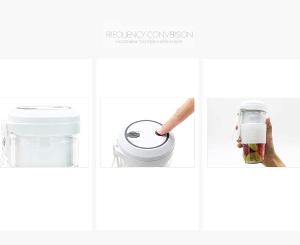 FPXNBONE Exprimidor Electrico Zumo Mini,Vaso de Jugo de Carga USB portátil, Mini exprimidor eléctrico-Rosa,Vaso Individuales para Fruta White