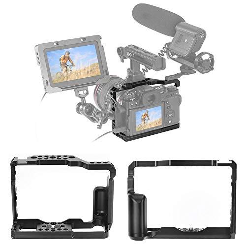 Yunir Jaula de cámara para Fuji XT2/XT3, fotografía de Disparo Vertical de aleación de Aluminio SLR/Kit de Jaula de cámara sin Espejo para Fuji XT2/XT3