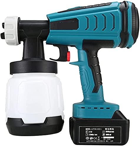wsbdking Rociadores de pintura, pulverizador de pintura para paredes y techos 18v batería de litio inalámbrico extraíble extraíble pistola de pulverización de alta presión herramientas de pulv
