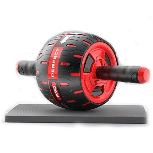 BYBYC Abdominal Rad Ab Roller Fitnessraum Fitness Equipmentwith Matte, Für Frauen Männer Abs Core-Trainer - Kern Stärkung Der Maschine,Rot