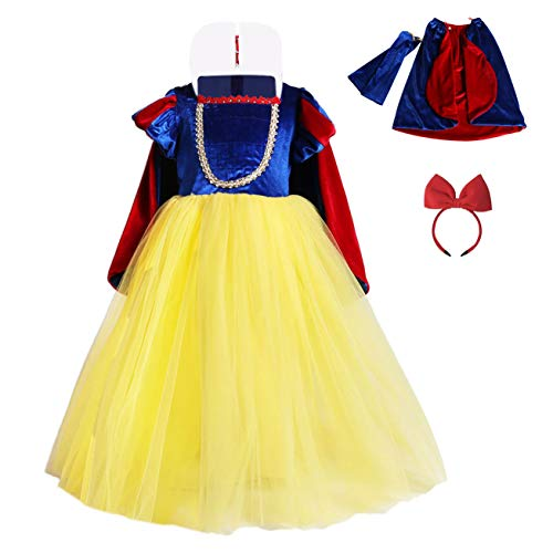 FONLAM Vestido Largo Disfraz de Princesa para Niña Conjunto Vestido Fiesta...