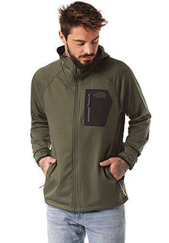 The North Face Men's Borod Hoodie, New Taupe Green/TNF Black, Size M