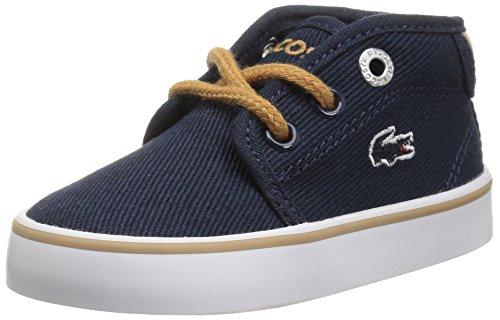 Lacoste Baby Girls Kid's Ampthill Sneaker Chukka Boot, Navy Canvas, 5 Infant