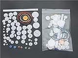 vs-elec - 60 Arten von Ritzel und Zahnstange Kunststoff Riemenscheibe Schneckengetriebe für Arduino.