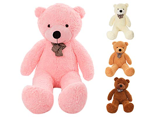 MyTeddyWorld Großer Teddybär - Kuschelig Stofftier Riesen Plüschbär - Weiches Spielzeug Geschenk für Kinder - Perfekt für Geburtstag Hochzeit Valentinstag Weihnachten