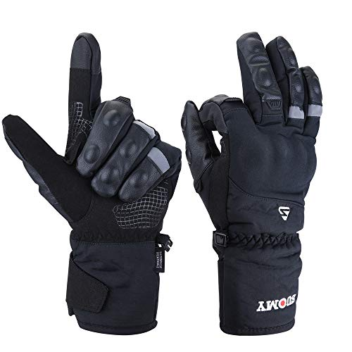 Goture Guantes Moto Invierno para Hombre Mujer Impermeables