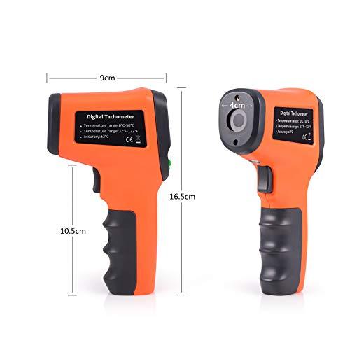 Ehdis Digital LCD láser foto tacómetro sin contacto RPM metro Velocidad del motor...