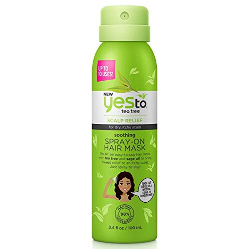 Yes To Naturals Tea Tree & Sage Oil Scalp Relief Conditioner for Dry & Itchy Scalp, white, Carrots, 12 Fl Oz