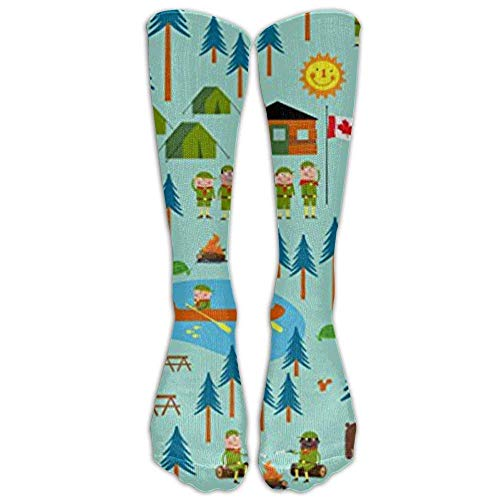 Boy Scouts Camp Turtle Athletic Tube Stockings Women's Men's Classics Stockings Socks Sport Long Sock One Size