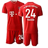 JEEG 20/21 Kinder TOLISSO 24# Fußball Trikot Jugend Trainings Anzug T-Shirt Set (Kinder Größe 4-13 Jahre) (26)