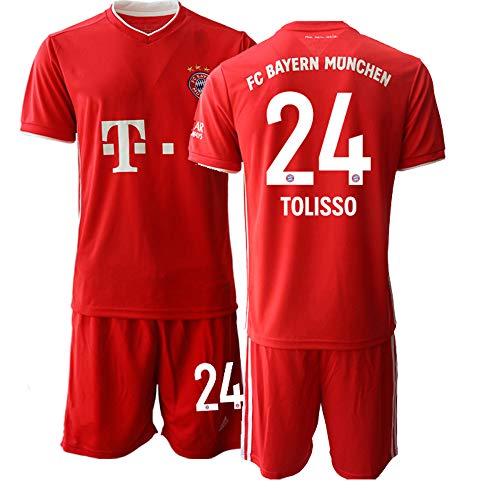 JEEG 20/21 Kinder TOLISSO 24# Fußball Trikot Jugend Trainings Anzug T-Shirt Set (Kinder Größe 4-13 Jahre) (22)