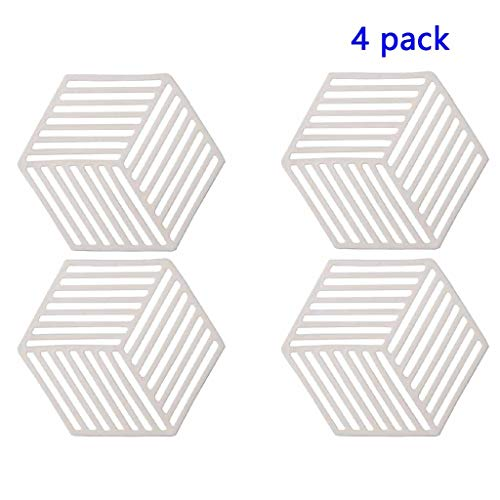4 Stück trivets Hot Pot-Halter Hot Pads for Tisch & Aufsatz- Moderne Küche Hot Pads for Töpfe & Hot Dish (Color : Off-white, Size : Long clause)