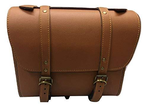 SaharaSeats Back Seat Square Saddle Bag for Royal Enfield (Tan)