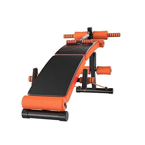 ZOUJUN Panca Multifunzionale for Full all-in-One Body Workout - Hyper Torna Estensione Regolabile Ab Sit up Bench Declino Flat Bench Bench può Essere Piegato (Color : Orange)