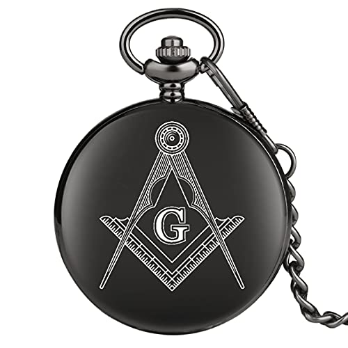 Reloj de Bolsillo Reloj de Bolsillo Collar Bandera Negra Colgante Llavero de revolución Colgante Reloj de Bolsillo para Hombre