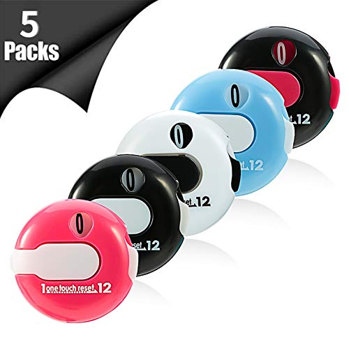 bowsugar 5 Stück Mini Golf Stroke Counter Score Counter Scoring Keeper up to 12 Shots Score for Outdoor Sports Golf Attachment Zubehör, 30mm