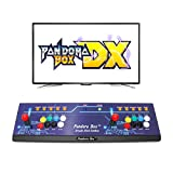 Wisamic Consola de juegos Arcade Real Pandoras Box DX: compatible con juegos 3D con clasificación Full HD mejorada, compatible con CPU PS3, PC, TV 2, sin juegos, 8 botones.