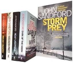 John Sandford Series 5 Books Collection Set: (Dark of the Moon, Heat Lightning (Virgil Flowers 2), Wicked Prey, Rough Coun...