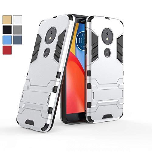 COOVY® Funda para Motorola Moto E5 / Moto G6 Play de plástico y Silicona TPU, extrafuerte, con protección contra Golpes, Funda con función Atril | Color Lata
