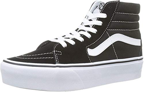 Vans Donna Nero/True Bianco SK8-Hi Platform Sneaker-UK 4