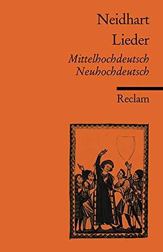 Lieder: Mittelhochdt. /Neuhochdt. (Reclams Universal-Bibliothek)