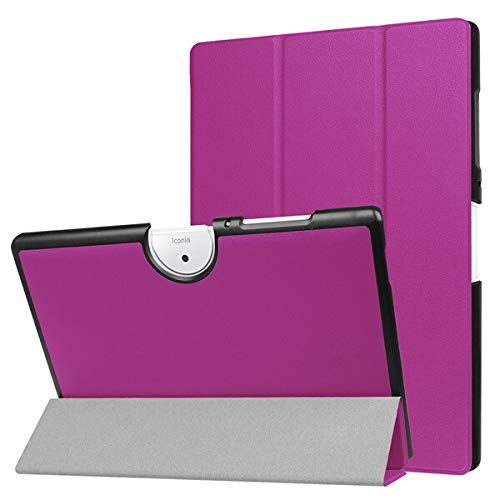 QiuKui Tab Funda para Acer Iconia One 10 B3-A40, Soporte de Cuero PU Piel Protectora Magnética Tableta Delgada Cubierta para Acer Tab B3 A40 (Color : Purple)