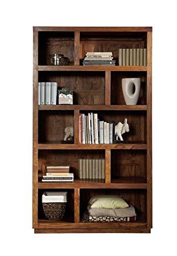 MASSIVMOEBEL24.DE Regal Duke aus vollmassivem Palisander walnuss lackiert, modernes Bücherregal aus Massivholz