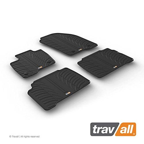 Travall Mats Gummifußmatten Kompatibel Mit Ford Galaxy und S-Max (Ab 2015) TRM1257 - Allwettermatten Nach Maß Fussmatten Set
