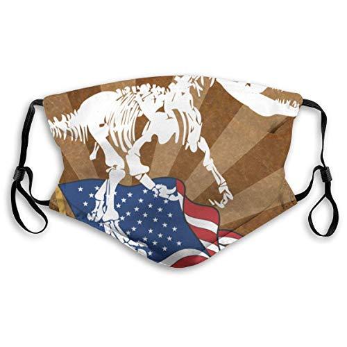 Kiel und die amerikanische Flagge Multifunktionale Bandanas Gesicht Stirnband Schal Headwrap Neckwarmer für Staubsport im Freien