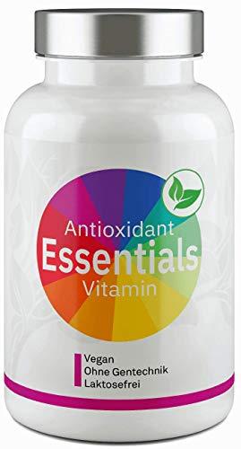 Antioxidant Essentials I Premium Vitalstoff Komplex I OPC, Transresveratrol, Astaxanthin, CoenzymQ10 & Superfruits I Maximale Bioverfügbarkeit durch Citrusbioflavonoide - 80 Kapseln von Valuelife