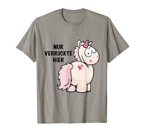 T-Shirt Einhorn 'Nur Verrückte hier' design by NICI