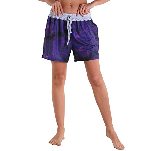 YANFANG Pantalones Cortos de Las señoras de la Yoga del hogar de los Deportes del Ocio al Aire Libre de la Aptitud del Surf de la Playa de Las Mujeres,Navy,XL