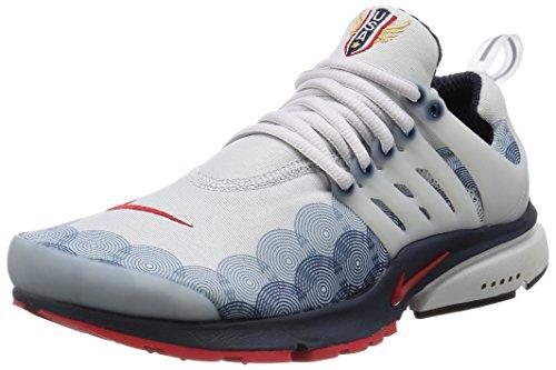 Nike Mens Air Presto GPX USA Neutral Grey/Red-Obsidian Fabric Size 8