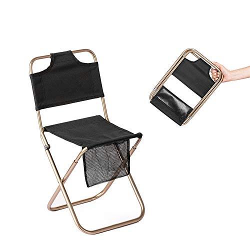 N / A Hochwertiger tragbarer Klappstuhl für den Außenbereich, superleicht, Kratzfest, leicht zu reinigen, 160 kg schwer, Bequeme, stabile Rückenlehne