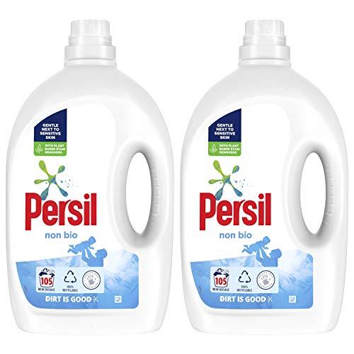 Persil Non-Bio Washing Liquid Detergent, 105 Washes, Pack of 2