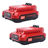 Biswaye 2 Pack 20V Battery CMCB202-2 Replacement for Craftsman V20 Lithium Ion Battery CMCB204 CMCB202 CMCB201 (Only for V20 Series) 20V Tools CMCF900B CMCS600B CMCB104 CMCK401D2 CMCG400B CMCK401D2