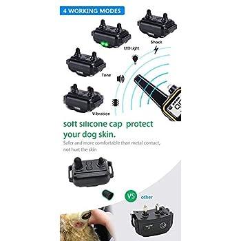 Tobaling Colliers de Dressage Chien 800 Mètres Collier Anti-aboiement Electrique Télécommande Rechargeable IPX7 100% Imperméable 3 Modes Vibration/Beep Sonore/Choc (Gris)