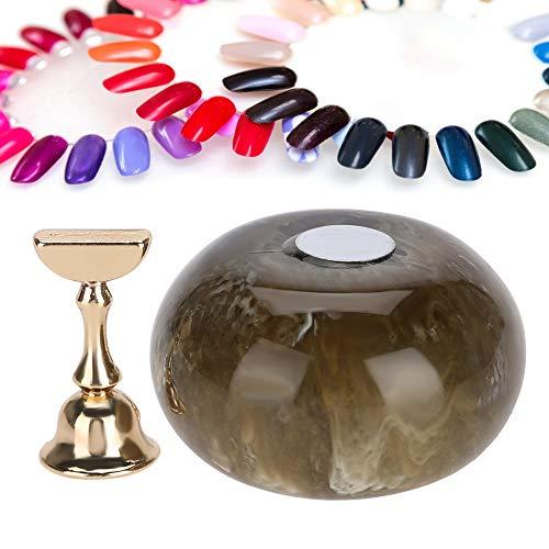 Nail Tips Holder, Acrylic Nail Display Stand, Practice Stand Base Nail Art Display Manucure Tool Nail Tip Display Rack for Fingernail DIY Nail Art(3)