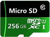 Original C10 - Tarjeta Micro SD de 256 GB Micro SDXC de clase 10, memoria TF con adaptador para smartphone, cámara, tablet (256 GB)