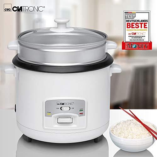 Clatronic RK 3566 Arrocera, capacidad 3 litros para 2,5 kg arroz hervido, 700 W, 2000 W, 2.5 litros, Blanco