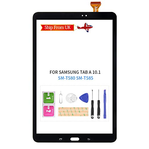 LADYSON For Samsung Galay Tab A 10.1 T580 T585 Screen Replacement For SM-T580 SM-T585Touch Screen Digitizer Sensor Glass Panel Repair Parts Kits Included Free Tools