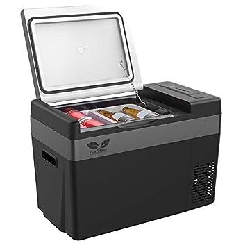 F40C4TMP 12V Car Fridge Portable Fridge Refrigerator 30 Quart 28L  Portable Freezer  -7.6℉~50℉  with 12/24V DC and 110-240 AC Travel Refrigerator for Vehicles Car Truck RV Camping and Gift