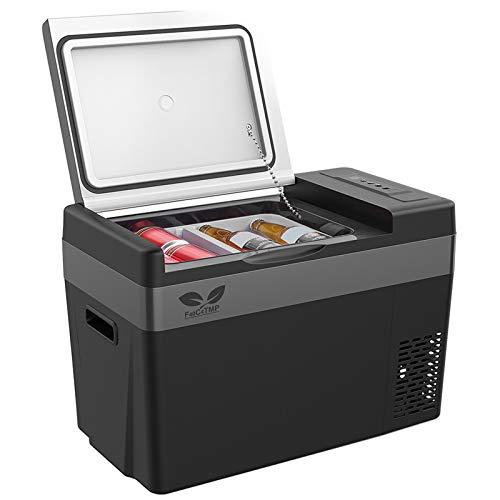 F40C4TMP 12V Car Refrigerator Portable Freezer 30 Quart(28L), Portable Refrigerator Fridge(-7.6℉~50℉) with 12/24V DC and 110-240 AC, Travel Refrigerator for Vehicles, Car, Truck, RV, and Camping