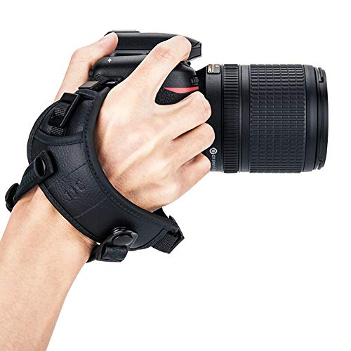 JJC Deluxe Camera Hand Grip Strap for Canon EOS 6D Mark II 5D Mark IV III 7D 2000D 90D 80D Rebel T8i T7i T6i T7 T6 Powershot SX70 Nikon D750 D780 D850 D500 D7500 D7200 D5600 D3500 Coolpix P1000 & More