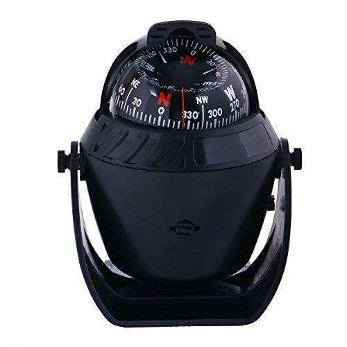 Car Ornaments Car-styling Guide Ball 2 in 1 Vehicle Automotive Accessories Direction Dashboard Ball Compass Thermometer Transporter-Galaxy